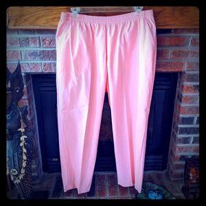 Koret brand pink elastic waist pants plus size 22W